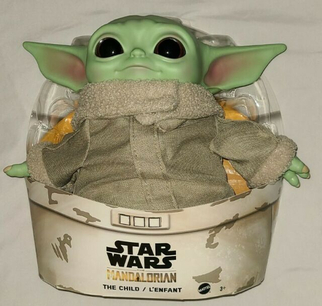 "NEW Disney Star Wars Baby Yoda The Child Plush Mandalorian 11"" Vinyl Head Mattel"