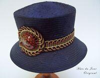 Hats Du Jour Handmade Black Straw Women's Hat W/caribbean Colored Band