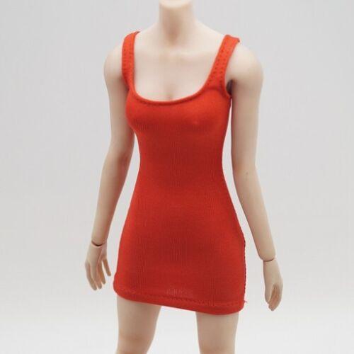 "Custom 1:6 Scale Orange Stretch a piece of Dress For 12/"" HT phicen kumik Figure"