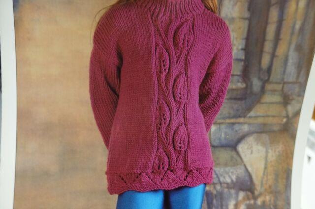 Hayfield Knitting Pattern 4010 Chunky Leaf Panel Child's ...