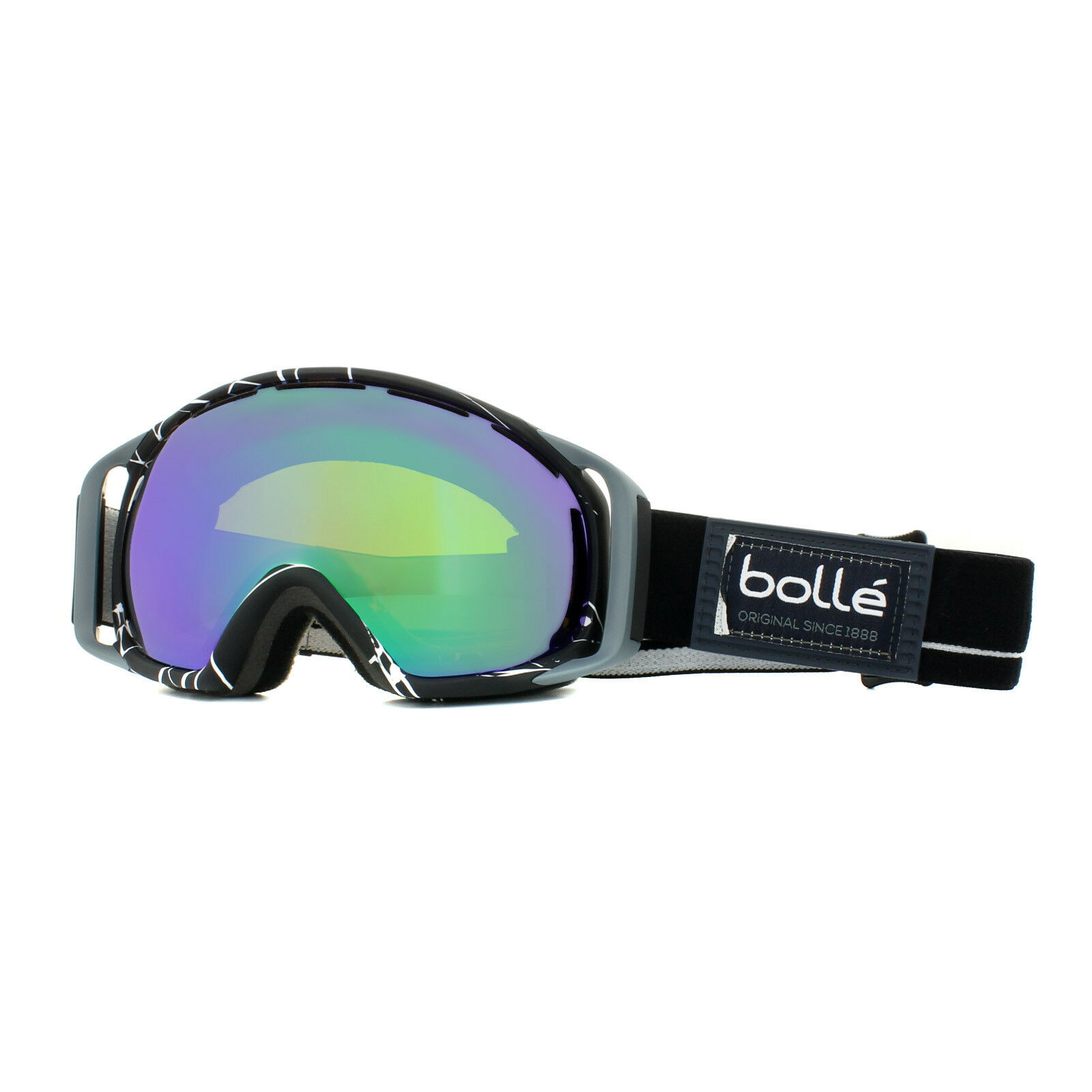 Bolle Skibrille Gravity 21457 Schwarz & Weiß Grün Smaragd