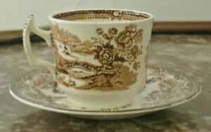 Vtge-Royal-Staffordshire-Tonquin-Clarice-Cliff-England-Cup-and-Saucer
