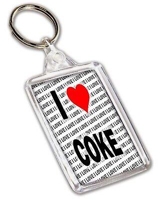 Christmas Stocking Filler Birthday I Love Coke Keyring Gift