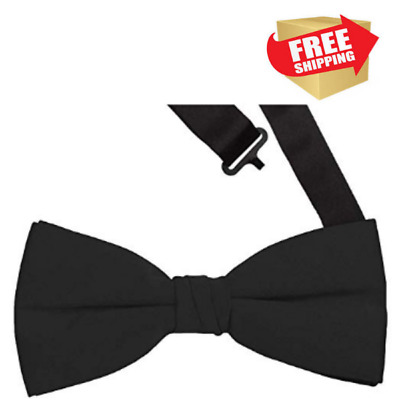 Details about  /Classic Mens Bow Tie Adjustable Satin Clip On Pre Tied Tuxedo Wedding Party