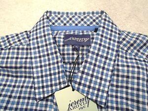 Jeremy-Argyle-of-NYC-Long-Sleeve-Blue-Check-Sport-Shirt-NWT-XL-148-Trim-Fit