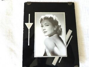 Reverse-Painting-Frame-Glass-Vintage-Black-Silver-Mid-Century-Art-Deco-Photo