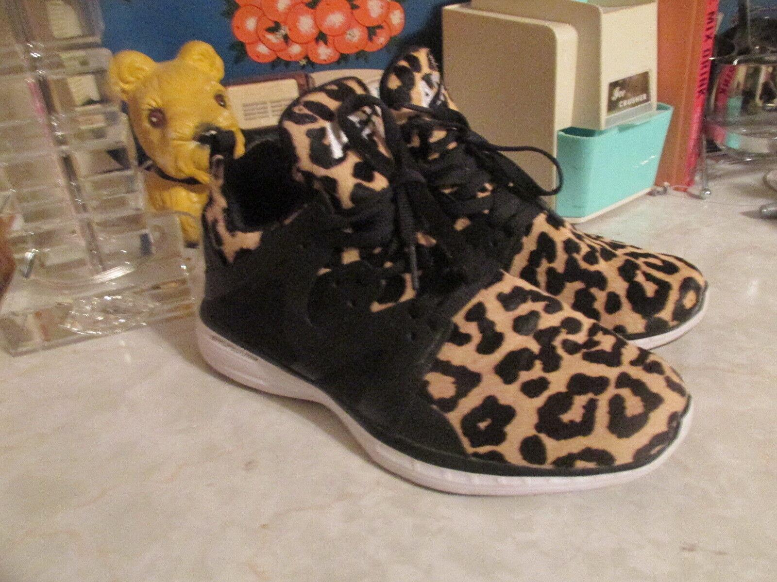 APL femmes's Ascend Leopard Print baskets Taille 10 Animal Print