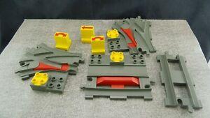 Lego-Duplo-3-Weichen-Schiene-Eisenbahn-Konvolut-Sp352