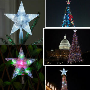 Outdoor Light Up Christmas Tree.Details About Battery Powered Christmas Tree Topper Star Colour Changing Led Light In Outdoor