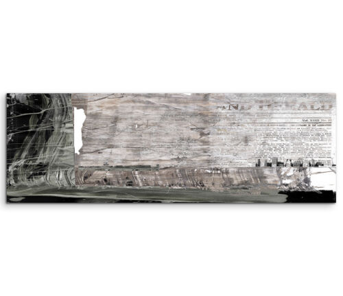 Leinwandbild Panorama grau braun schwarz weiß Paul Sinus Abstrakt/_544/_150x50cm