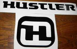 Hustler mower decal