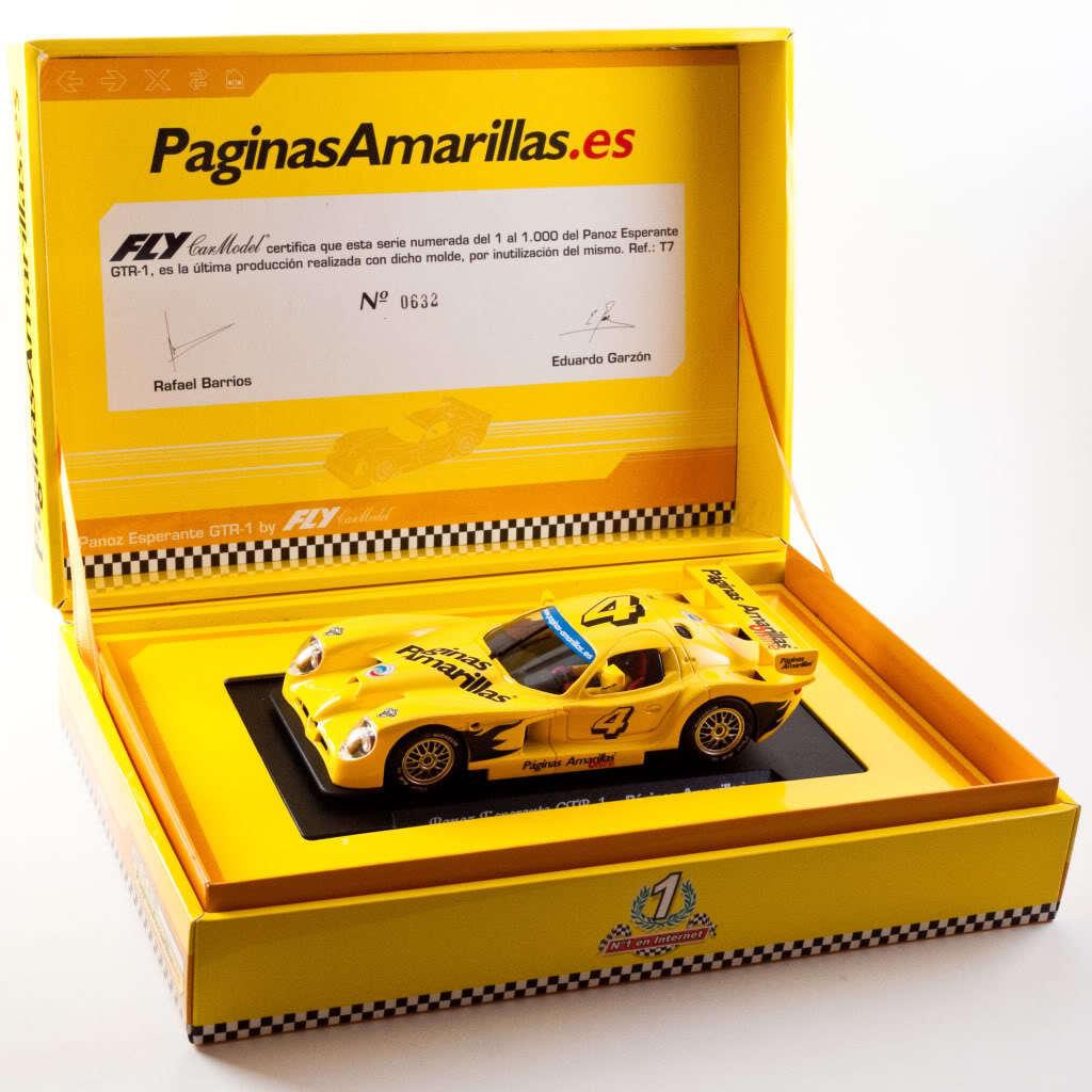 Fly Panoz GTR-1 Paginas Amarillas (T7) - MIB Very Rare