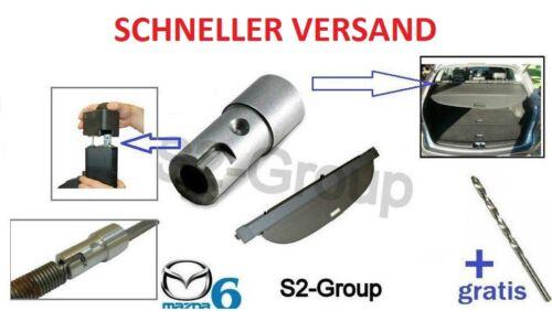 Mazda 6 Kombi 02-08 KOFFERRAUMABDECKUNG Reparatursatz Laderaumabdeckung BOHRER