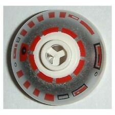 LEGO 7658 Star Wars - Brick, Round 2 x 2 Dome Top, Silver & Red Pattern (R5-D4)