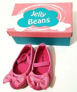 Black PT Flower Size 4-8 Jelly Beans Nona Toddler Girl/'s Shoes Black