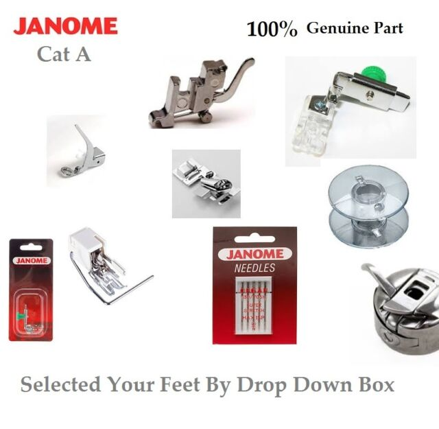 100% Genuine/Universal Janome Feet, Parts Selection For Category A Machines Only