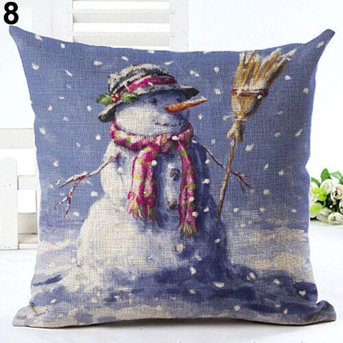 Christmas Pillow Cover CaseXmas Santa Sofa Car Throw Cushion  Gifts Exquisite