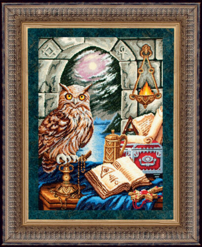 """/""""The Guardian of Time/"""" Bead Embroidery kit GOLDEN HANDS TM-001"""