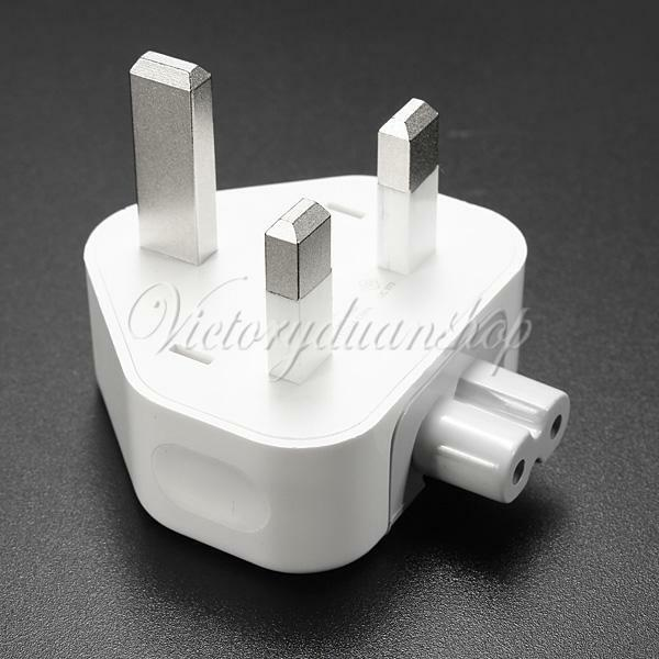 3 Pin UK Travel Home Wall Plug Adaptor Power Charger Connector For MacBook Mac