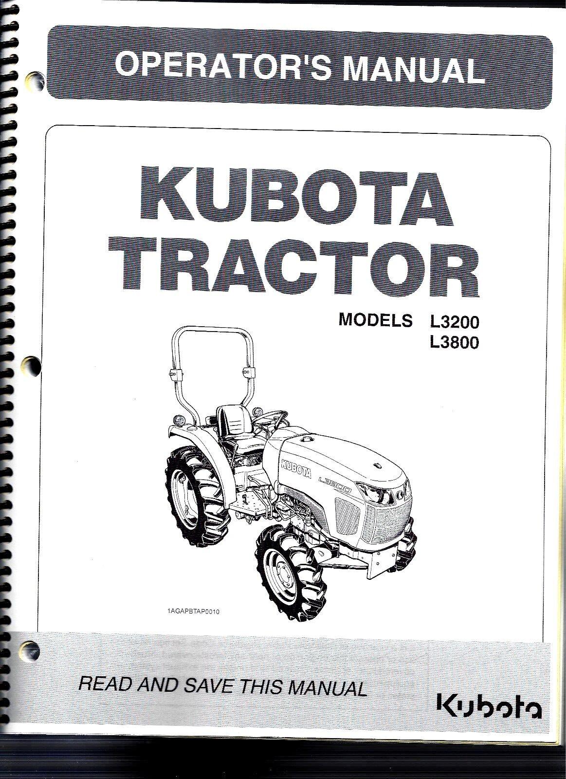 kubota l3200 l3800 tractor operator s manual ebay rh ebay com