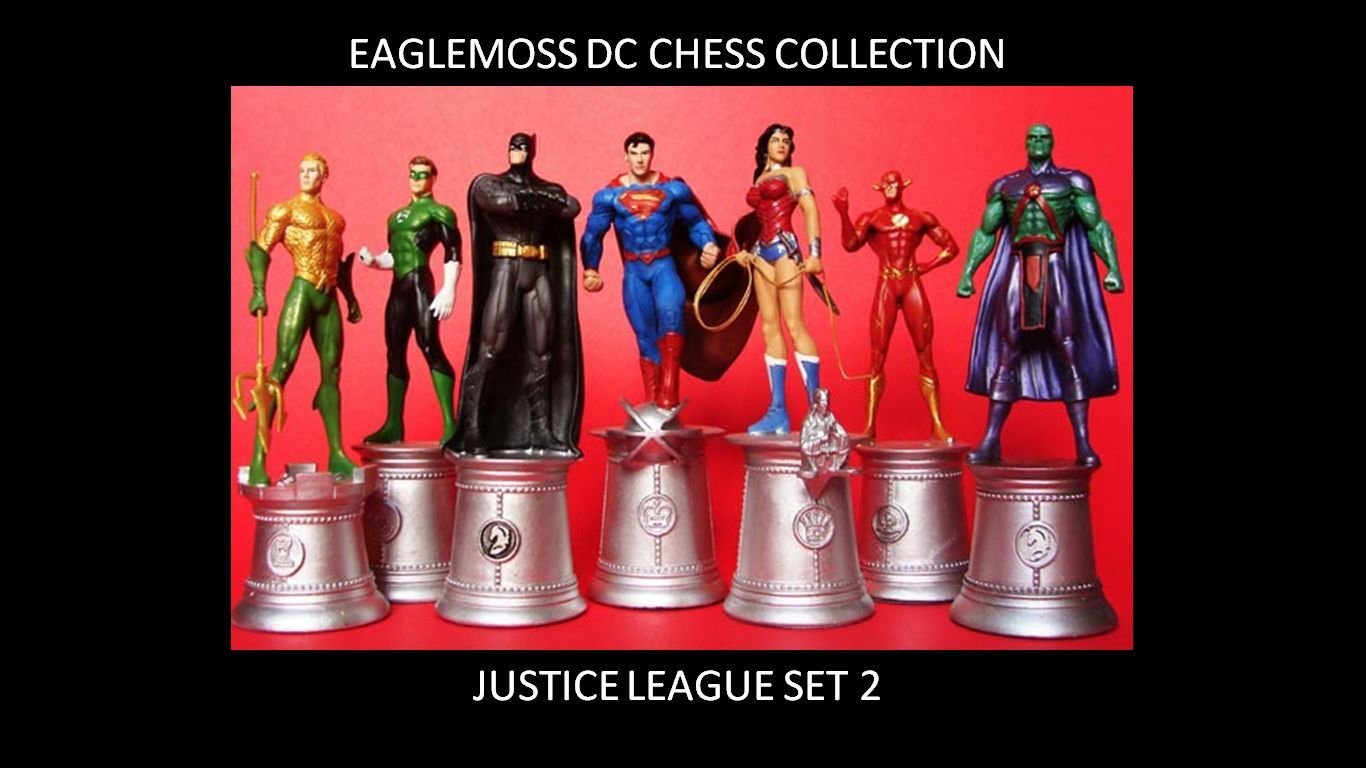 EAGLEMOSS DC CHESS SUPERMAN BATMAN WONDER WOMAN JUSTICE LEAGUE SET 2