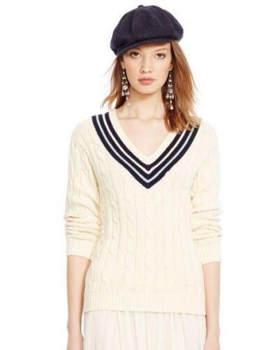 Polo Carla v mujer color Suéter Ralph cuello de Lauren crema Cricket para de en con grande TqwrPTB