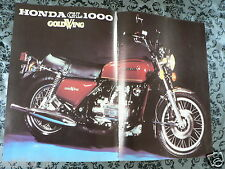 A140-POSTER HONDA GL1000 GOLDWING MOTORCYCLE 1975 MODEL MOTORRAD