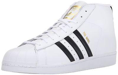 ADIDAS SUPERSTAR ORIGINALS Pro Model Hi Top White Black Brand New in Box Mint 11