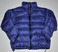 Moonstone Mens Large L Blue/Purple Puffer Goose Down Warm Winter Jacket Free S/H
