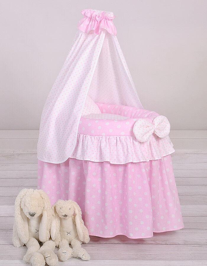 Puppen Stubenwagen mit Himmel Farbe rosa/weiss