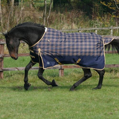JHL MEDIUMWEIGHT 220G MEDIUM WEIGHT STANDARD NECK HORSE //PONY TURNOUT RUG