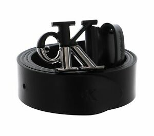 Calvin Klein Mono Hardware Split Belt W95 Gürtel Black Schwarz