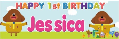 2 Personalised Birthday Banner Hey Duggee Children Kids Party Decoration poster