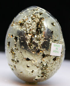 Pyrite-Egg-Crystal-Faces-Mineral-Chamber-Shiny-Surface-Dense-Mass-See-Video-BO0