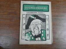 Revue LE GUIGNOL ENCHAINE PAMPHLETAIRE ILLUSTRE No 6 (25 Mai 1922) POINCARE