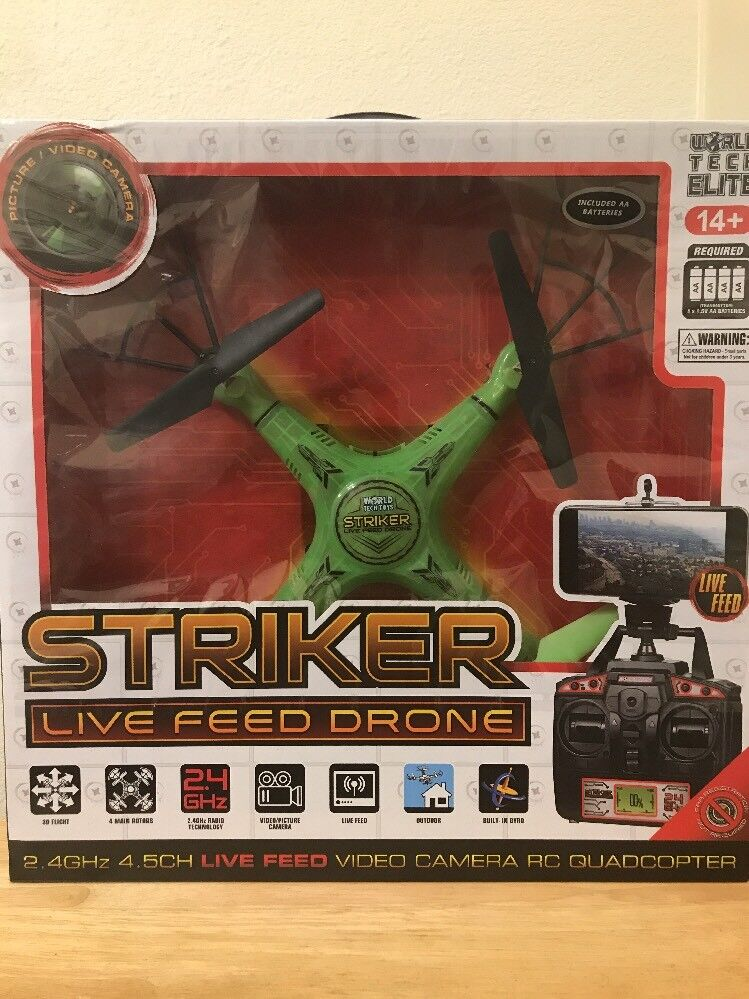 World Tech Toys 2.4Ghz Striker Spy Drone Video Picture 4.5 Channel RC Quadcopter
