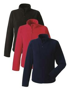 Russell Ladies Micro Fleece Jacket Plain Full Zip Fitted Womens
