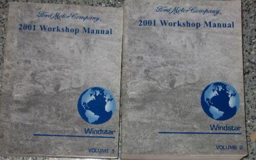 2001 Ford Windstar MINI VAN Service Shop Repair Manual Set OEM FACTORY 2 VOL