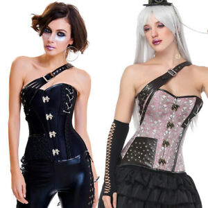 1e9cafb5efa Image is loading Women-Steampunk-Bustier-Corset-Top-Boned-Waist-Trainer-