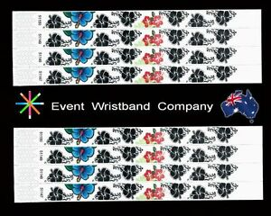 100-x-Flowers-Tyvek-party-security-wristbands
