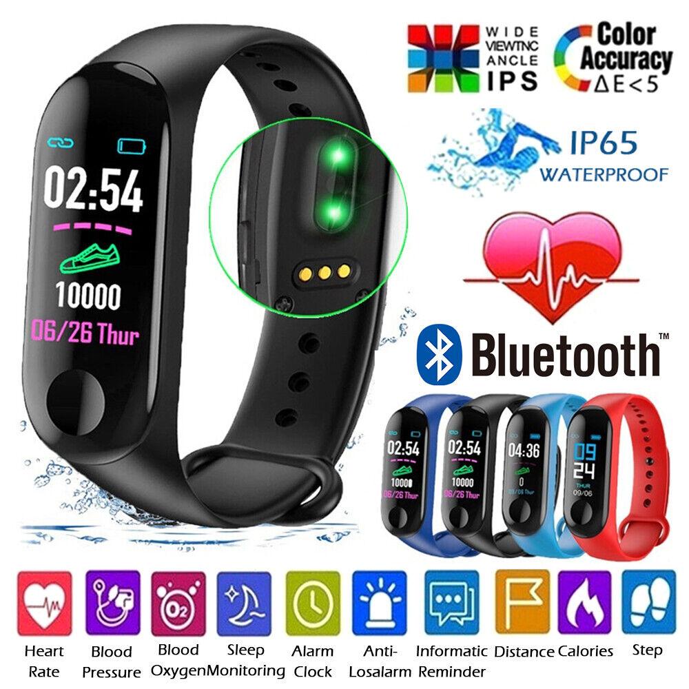 Smartwatch Armband Schrittzähler Pulsuhr Blutdruck Sportuhr Fitness Tracker IP67
