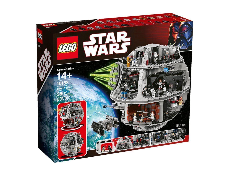 RARO  LEGO STAR WARS 10188  MORTE NERA NERA NERA  DEATH  STAR NUOVO ULTIMI PEZZI AFFARE 765837