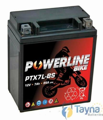 Powerline Derbi Terra 125 Aventure 2008 AGM Ion Batterie YTX7L-BS AGMIon