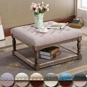 Cairona Fabric 30 Inch Tufted Shelved