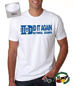Duke Blue Devils 5x Ncaa Basketball National Championship Men Quality T Shirt Ebay