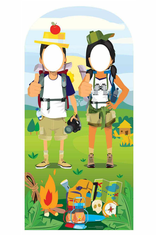 Camping Hiking Theme LifeGröße Stand In Cardboard Cutout   Standup - Photo Fun