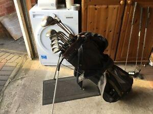 cce78e1cb5a6 Golf Clubs FULL SET PLUS Callaway Woods Ping Eye 2 Irons Putter Bag Men039s  RH -