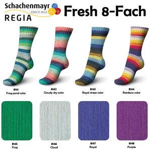 150g-5-99-100g-Regia-034-FRESH-034-8-Fach-Sockenwolle-Socken-Schachenmayr