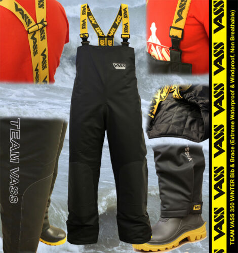 TEAM VASS NEW 350 WINTER BIB /& BRACE Modern Sports Oil Skin Extreme Waterproof