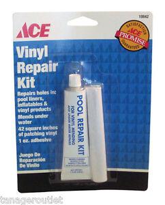 Ace vinyl pool repair kit pool liners inflatables and vinyl tube 1 oz ebay for Swimming pool liner repair kit
